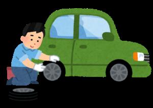タイヤ交換のイラスト