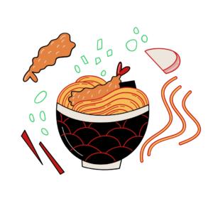蕎麦のイラスト